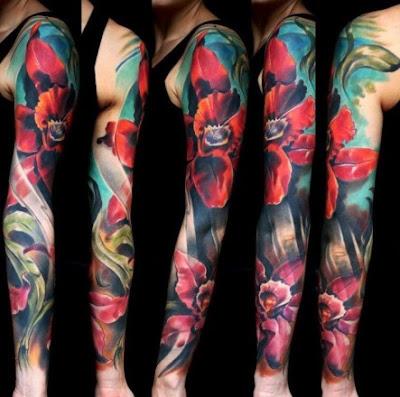 Desenhos em Tatuagens no Braço