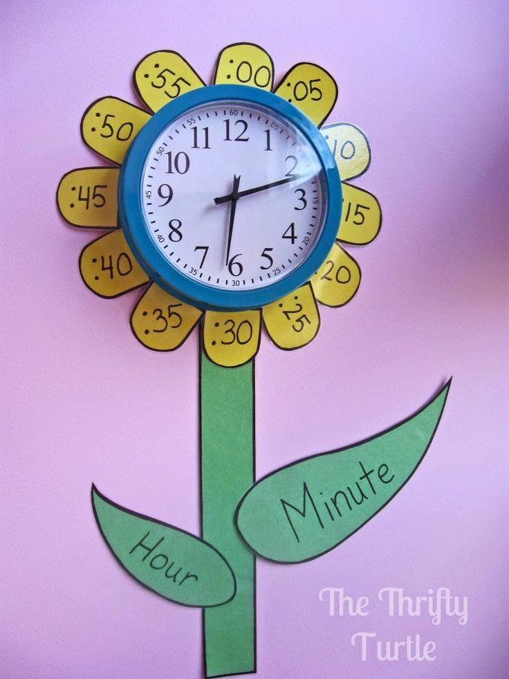 Club de ideas 5 ideas para trabajar el tiempo y el reloj Teach me how to draw a flower
