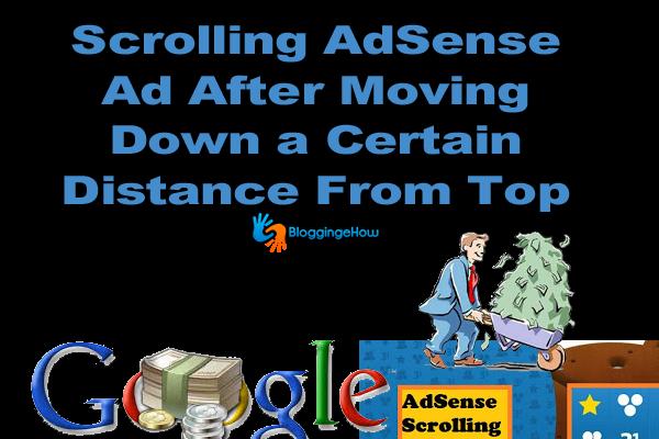 scrolling adsense ad