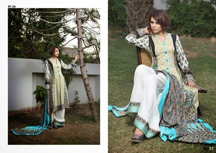 Rabea Linen 2014 By Shariq Textiles For Women And Girls