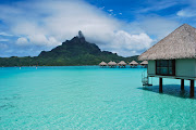 Label: beautiful beaches, clear water, crystal water, exotic, . (bora bora )