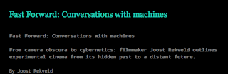 Fast Forward: Conversations with Machines