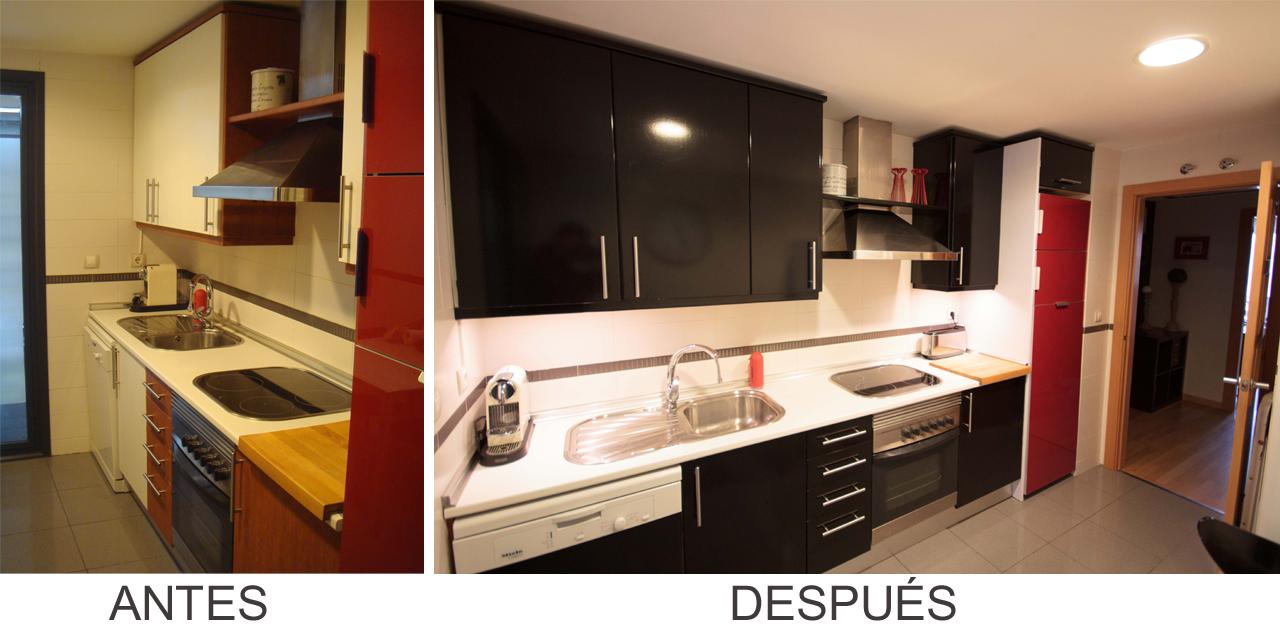 Antes y despu s la cocina de amaya - Pintar muebles de cocina antes y despues ...