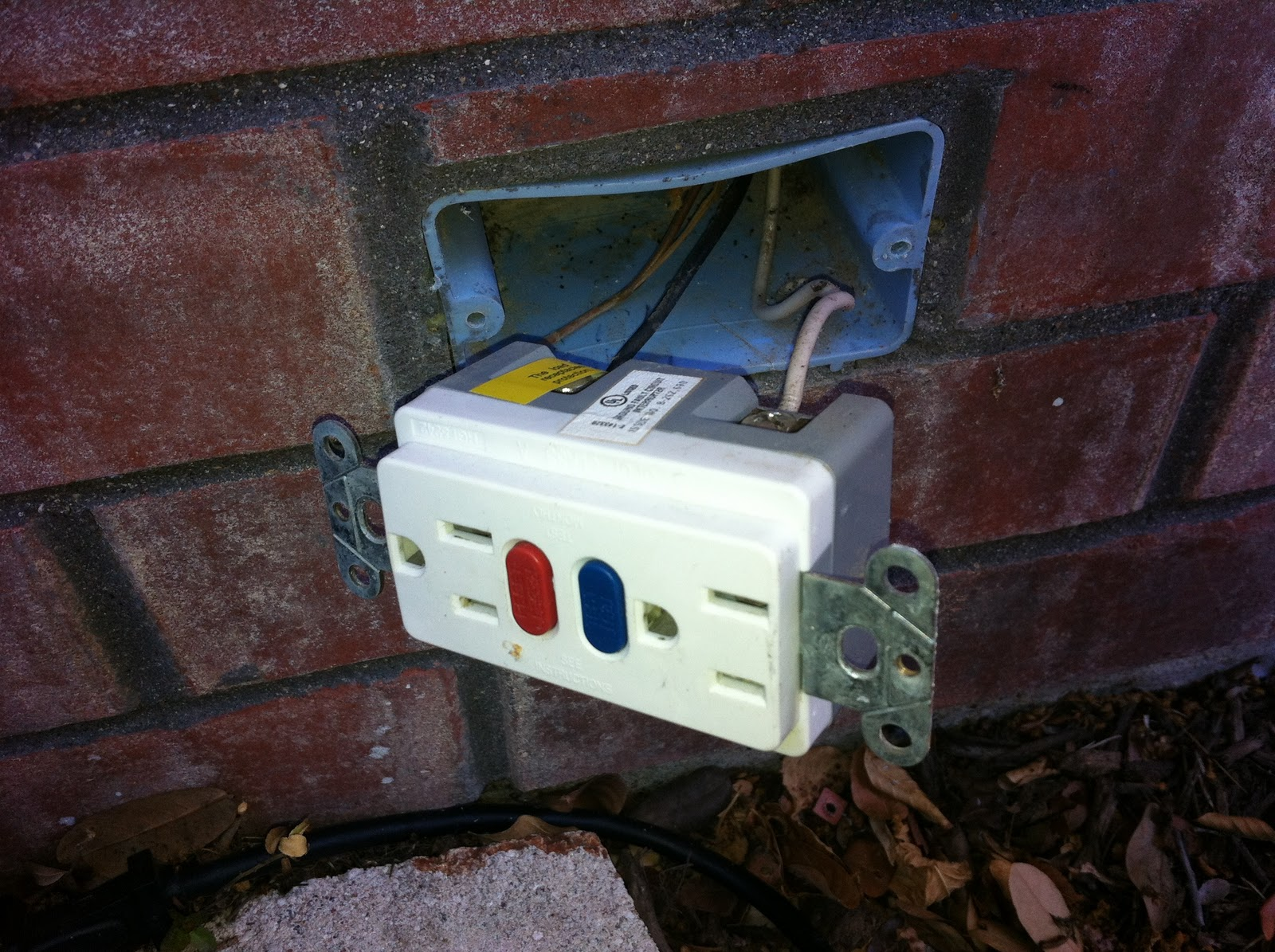 The Lean Remodeler Taking On An Outdoor Gfci Outlet Wiring Receptacle Tuesday November 29 2011