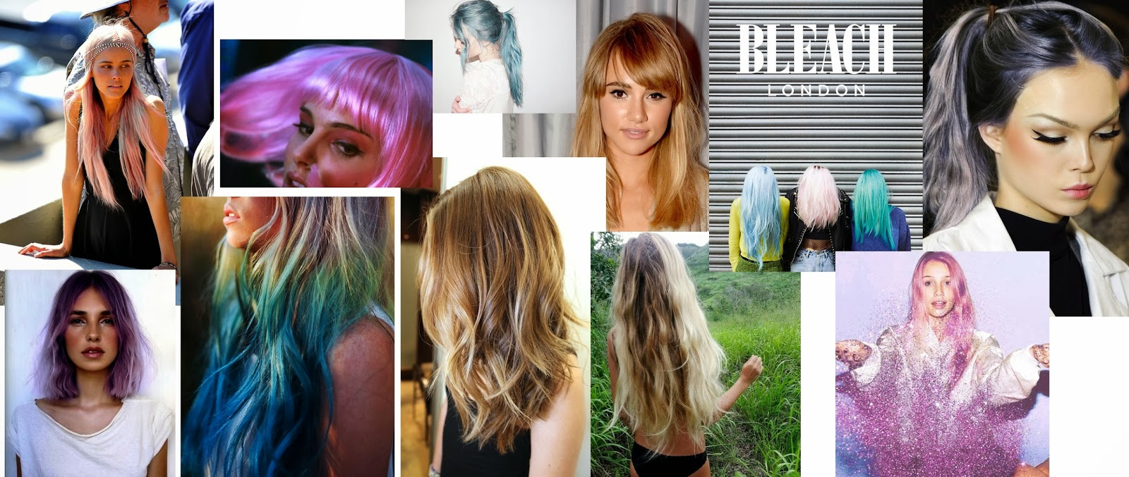 hair inspiration mood board tan talk blonde colour glitter suki waterhouse babes