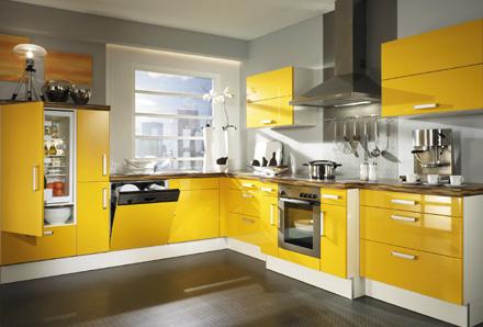 Muebles y decoraci n de interiores cocinas de color amarillo for Muebles de cocina amarillos