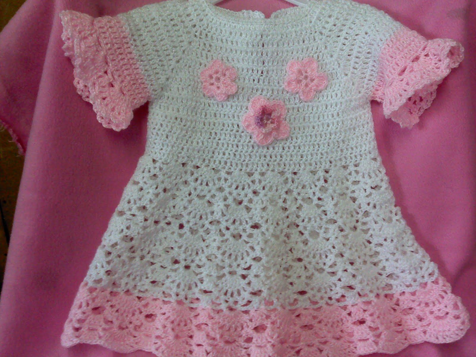 Vestidos de niña tejido a crochet - Imagui