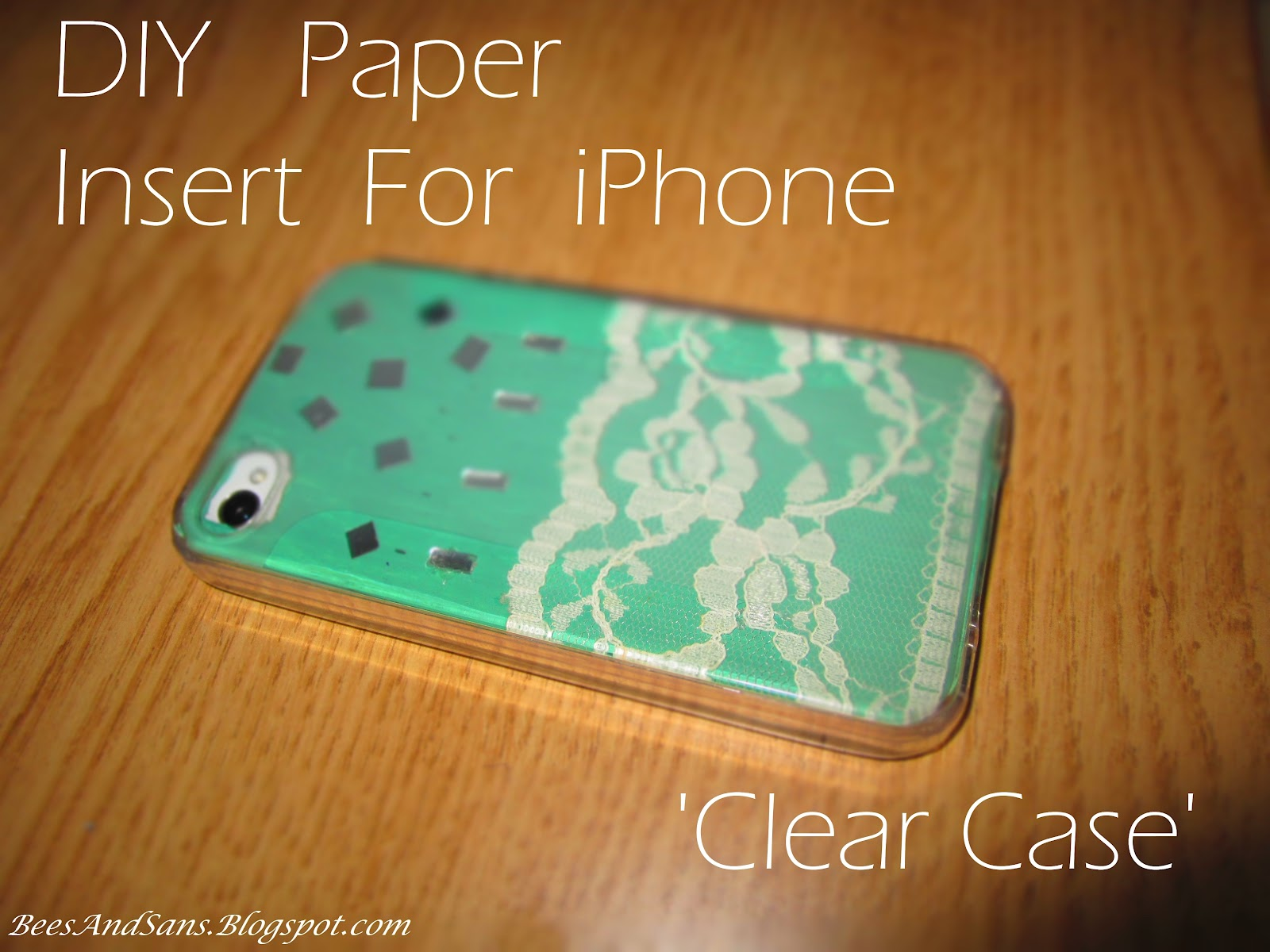 Bee 39 s and san 39 s diy paper inserts for iphone clear case for Diy phone case template