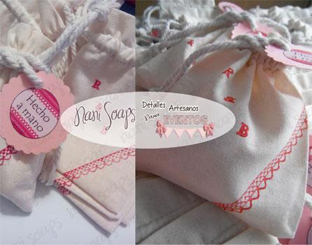 detalles boda jabones balsamo en bolsita algodon
