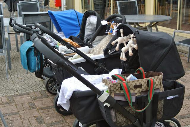 Igår hade vi lunch med barnvagnsmaffian