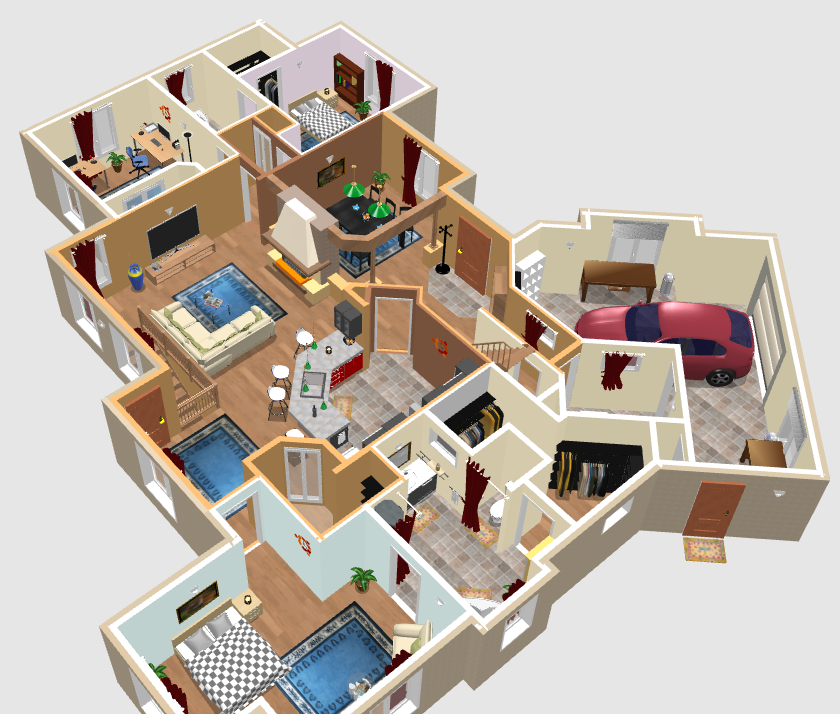 Free software for you free download sweet home 3d for Sweet home 3d furniture