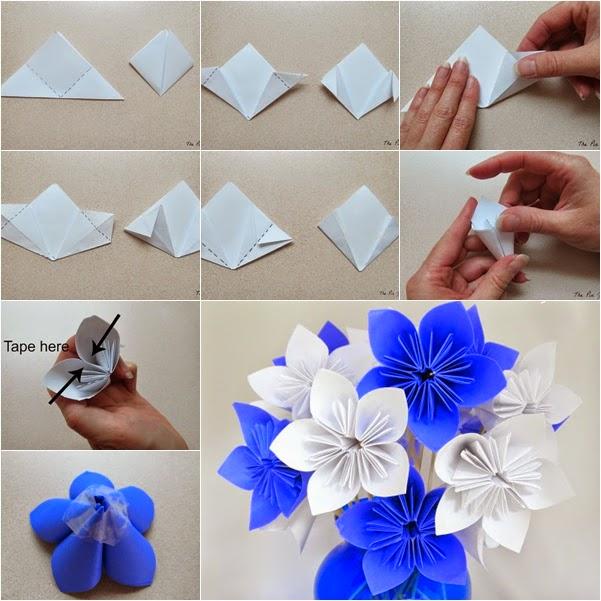 Цветы фото из бумаги своими руками
