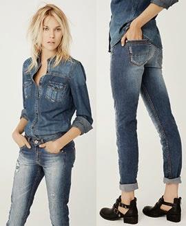 Suiteblanco jeans denim coleção outono inverno 2014 2015 camisa e calça feminina