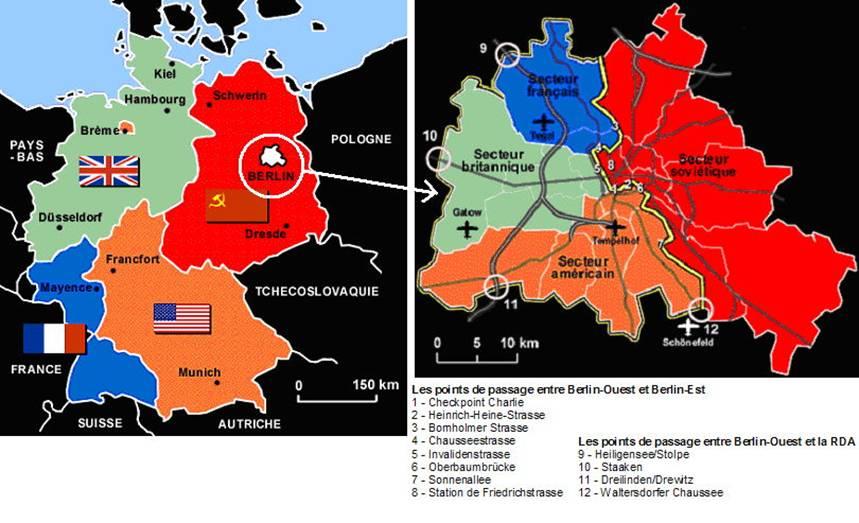 Partage de l'Allemagne et de Berlin par les Alliés. Image du Blog Gilles en Lettonie.