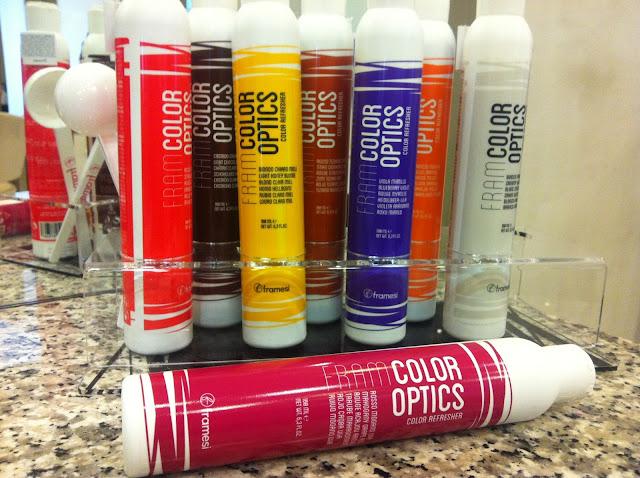 Framesi Framcolor Optics hair color refresher Uva Roberto Bellandi hair Milan Milano parrucchiere