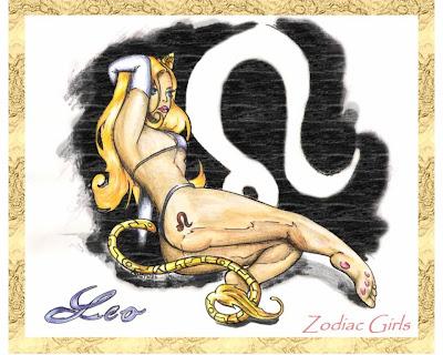 dibujo del zodiaco leo