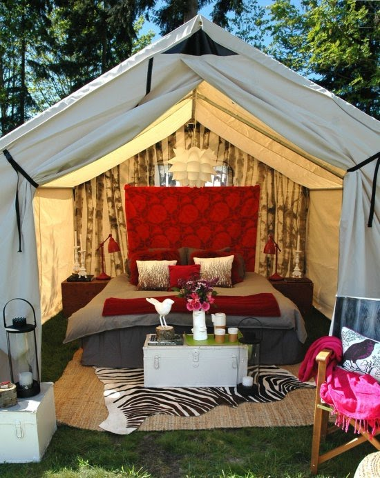 Backyard Camping Tips : Hometown Victory Girls Its official! The Girls are Glamping!!
