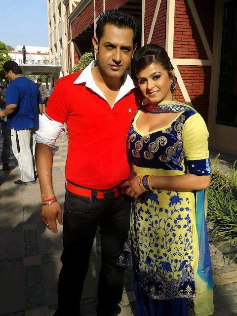 Gippy Grewal With Pinky Moge Wali Exclusive Photo