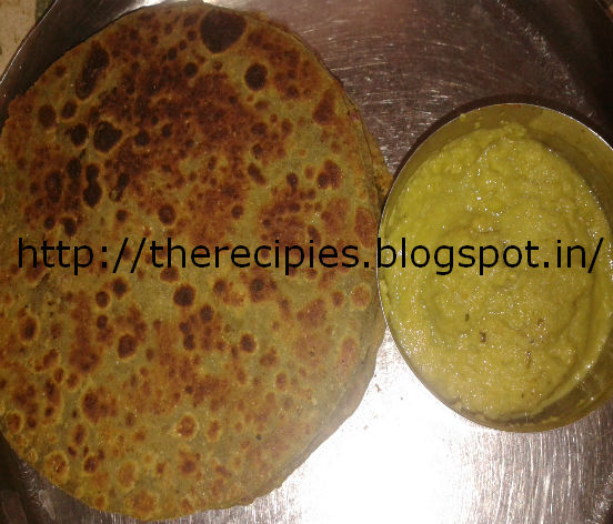 spinach mutter paratha