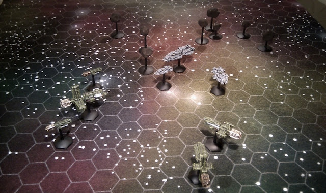 The Fse Under Attack By A Unsc Task Force Ships From Gzg