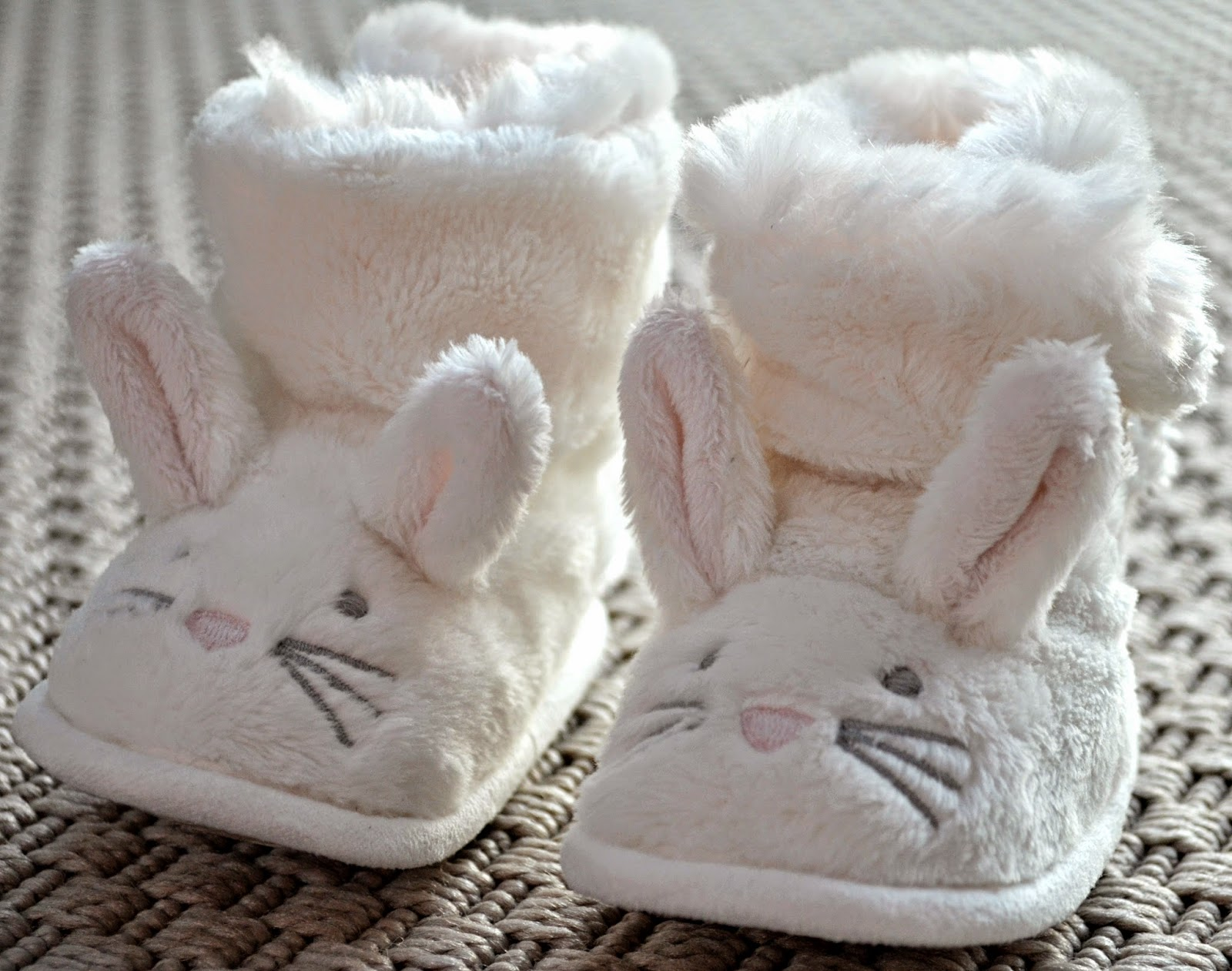 the little white company bunny booties