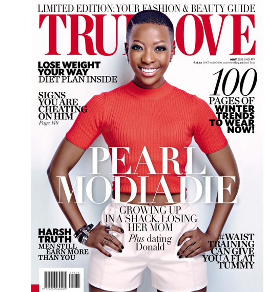 Pearl Modiadie On The Cover Of True Love Magazine May Issue