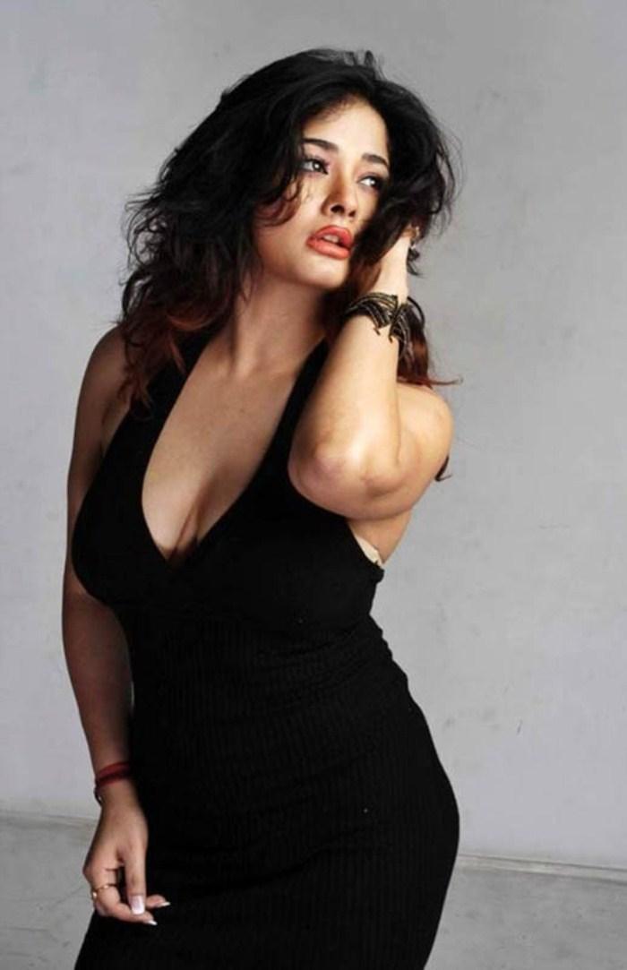 Kiran hot and naughty photo shoot in black dress