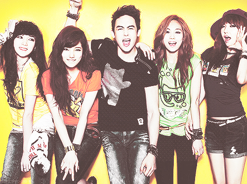 Miss A All Member with Nickhun (2PM) Photo Together