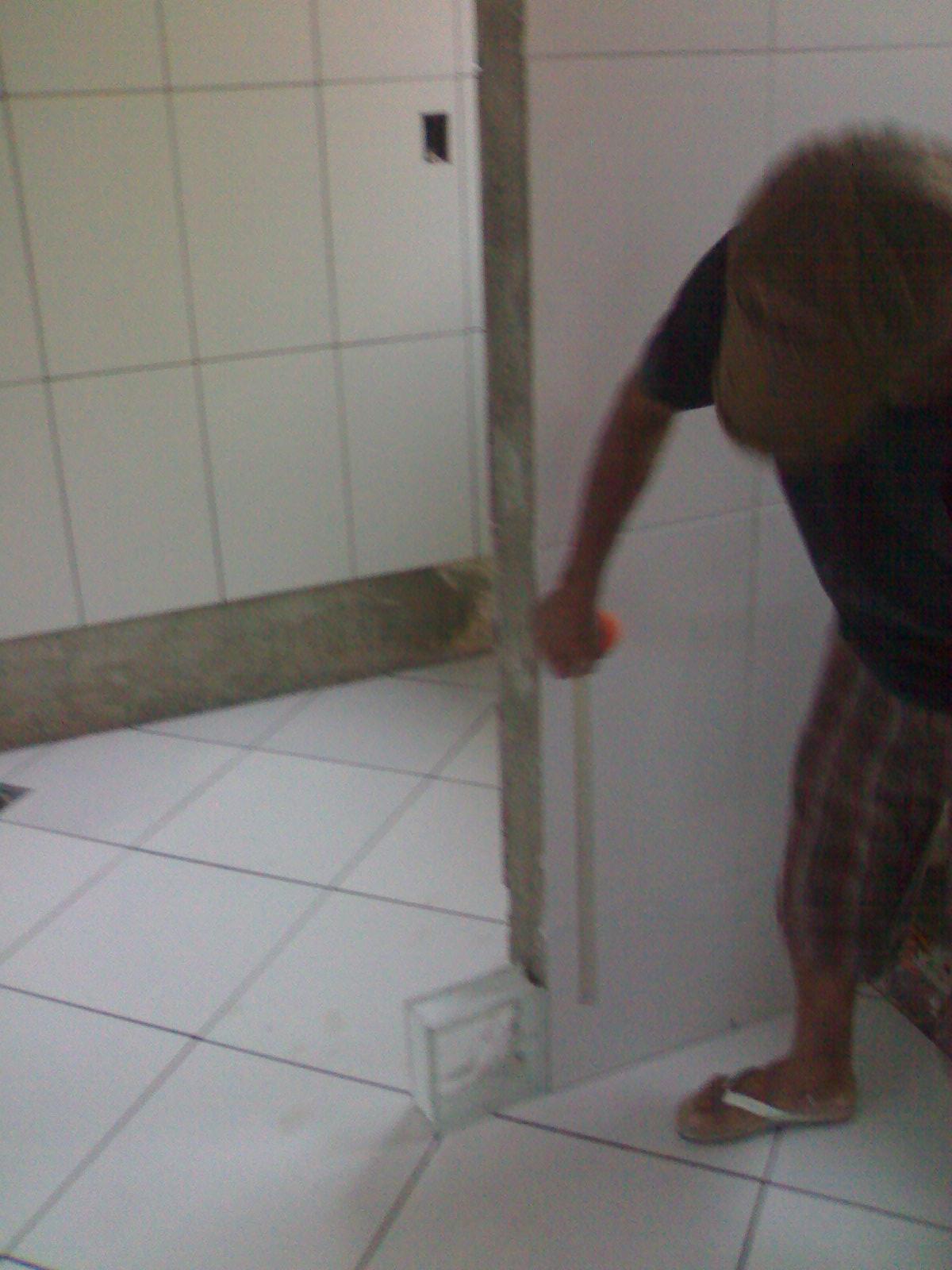 Imagens de #302824 mesmo angulo só que agora aparecendo o vão para a sala aí vai a  1200x1600 px 3372 Bloco Cad Pia Banheiro Vista