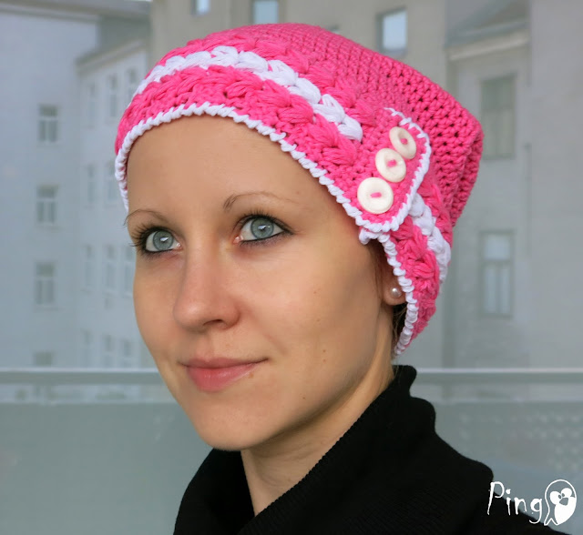 Isabella Street Hat - Crochet pattern by Pingo - The Pink Penguin