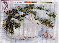 Схема вышивки зайчика