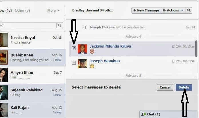 clear facebook chat box