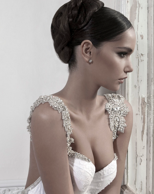 Dream Wedding #19: <b>Inbal Dror</b> Dresses - inbal-dror-haute-couture-wedding-gown-with-silver-diamond-detail