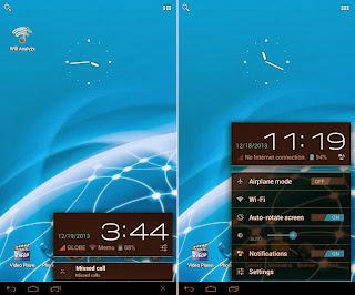 SKK Mobile Phoenix Tab 4 Notification Area