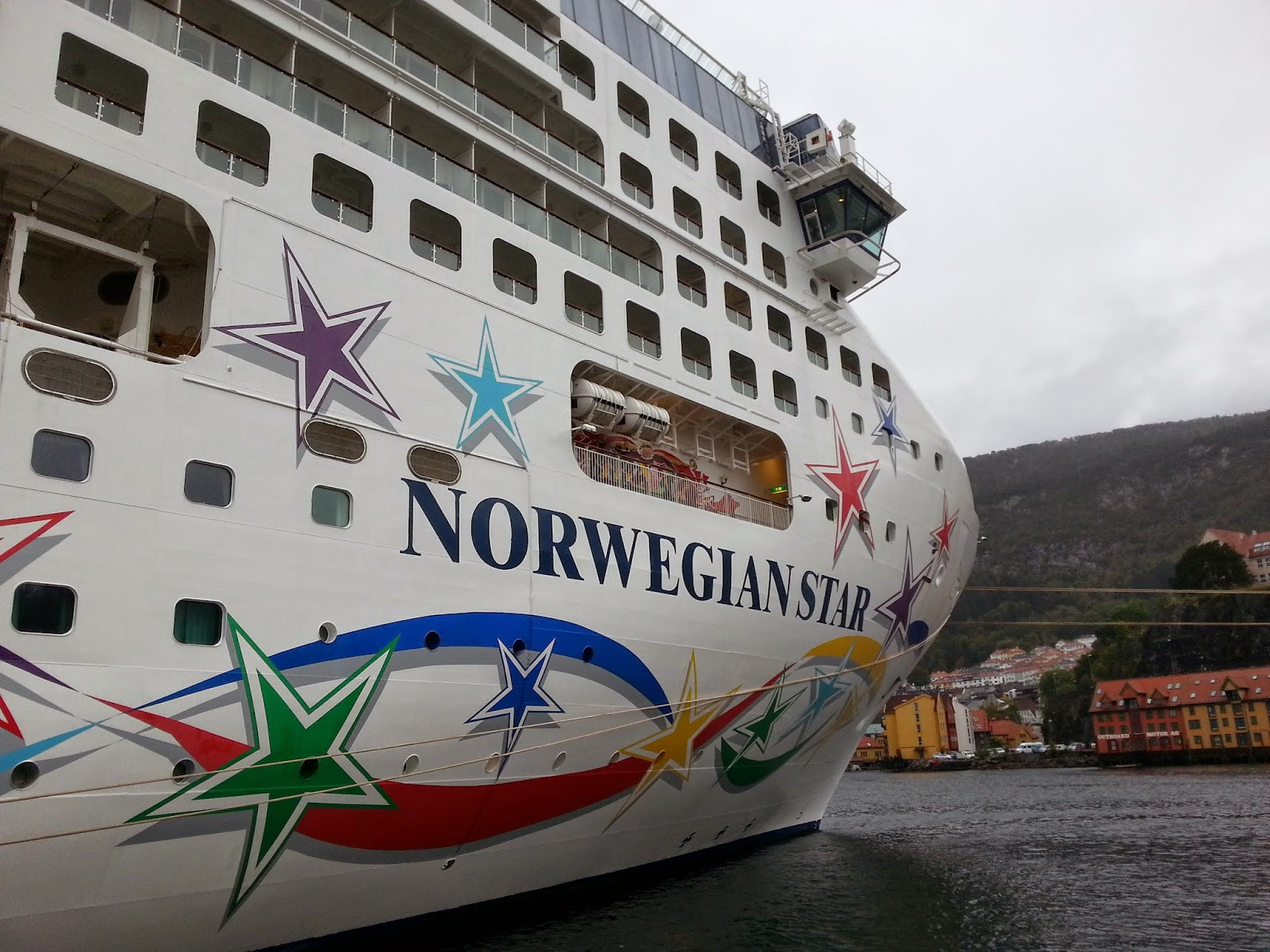 Cruise Ship Norwegian Star in Bergen, Norway