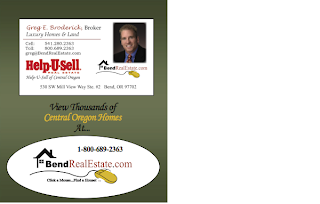 Back of postcard with realtor business card magnet