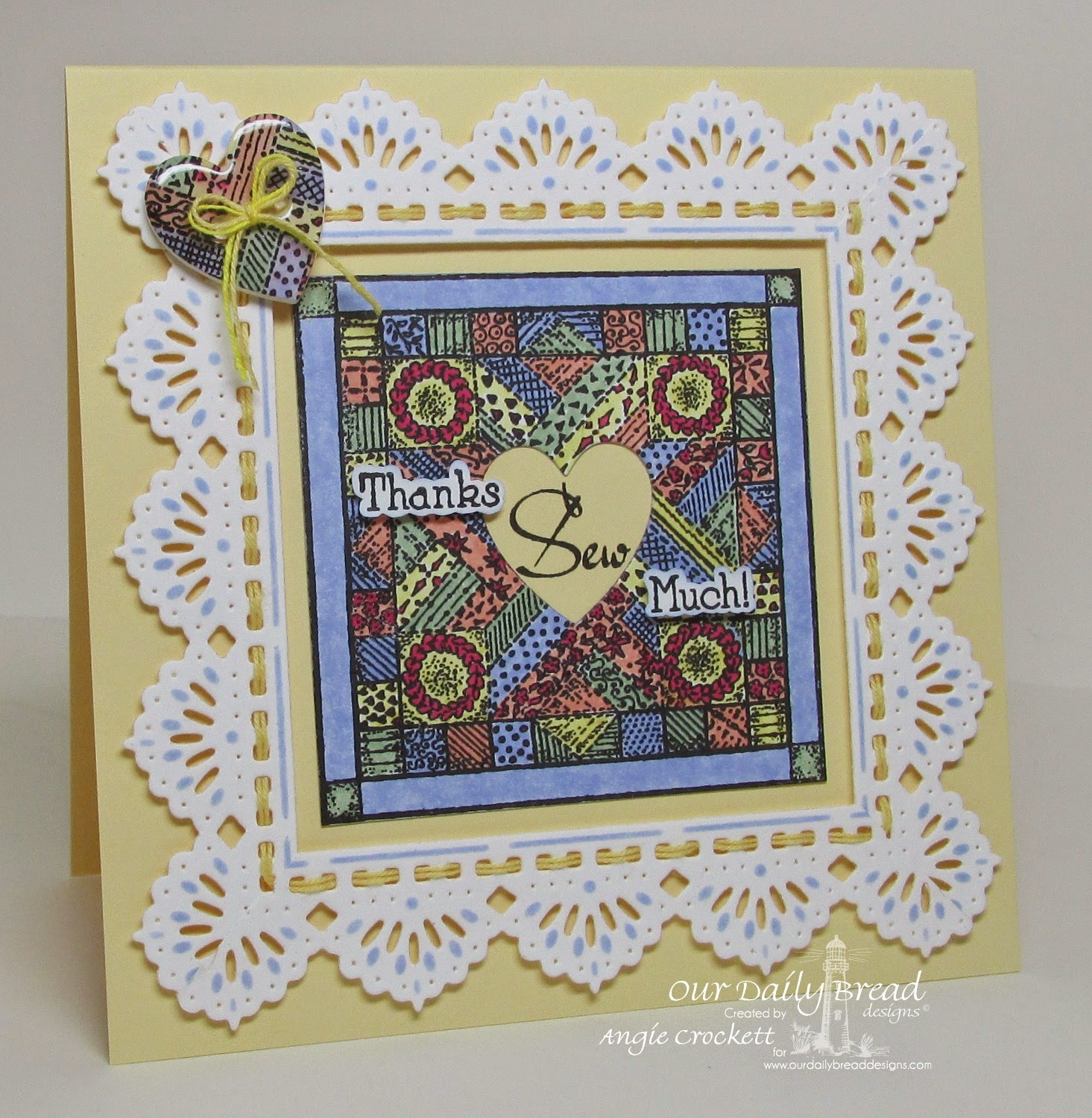 ODBD Quilts, ODBD Custom Ornate Hearts Dies, ODBD Custom Beautiful Borders Dies, Card Designer Angie Crockett
