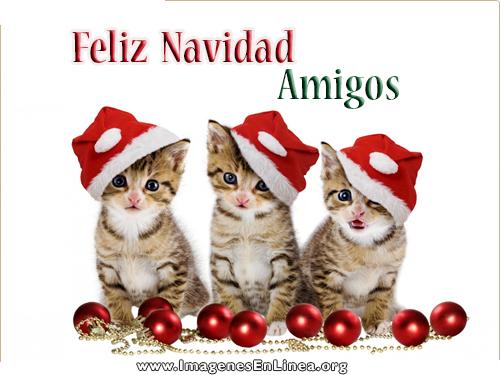 Feliz navidad Amigos, postales de navidad para amigos, dedicar una postal a tu amigo en Facebook.