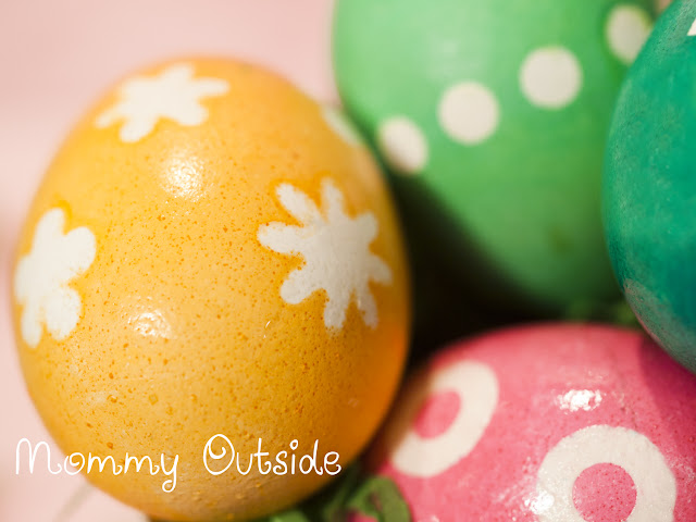 Outside The Box: Crafts for the Uncrafty - Reverse Sticker Easter Eggs