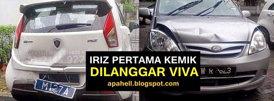 Proton Iriz Kemik Dilanggar Perodua Viva