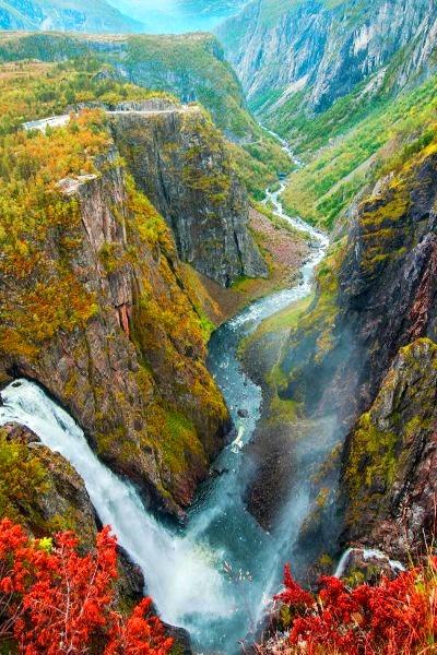 Vøringfossen Waterfall, Bergen, Norway