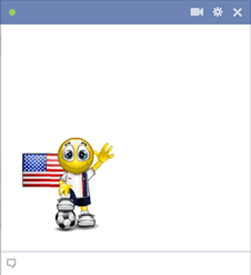 USA soccer smiley for Facebook