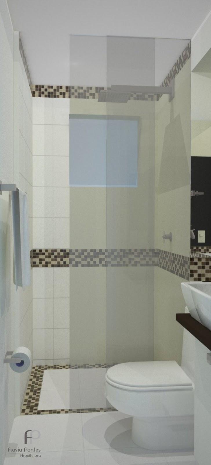 Flavia Pontes Arquitetura -> Banheiro Pequeno Reforma