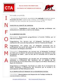 C.T.A. INFORMA, LO REALIZADO EN DICIEMBRE 2017