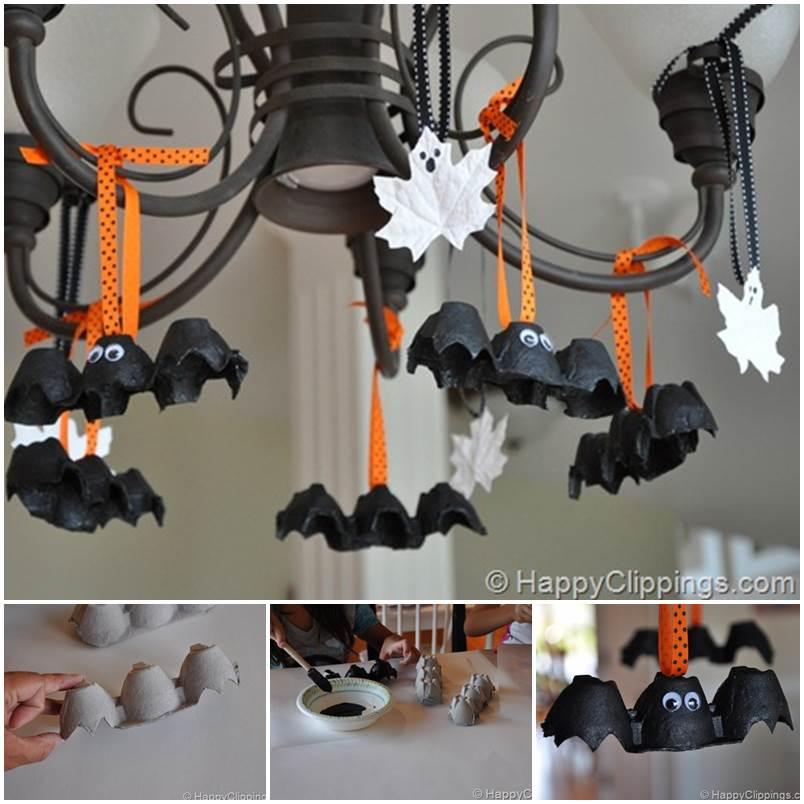 when we decorate our homes with ugly terrifying halloween decorations whether inside or outside you can count on this recycled halloween crafts - Recycled Halloween Decorations