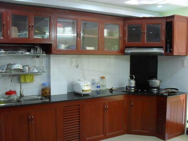 Tủ bếp nhôm kính treo tường ở bình dương