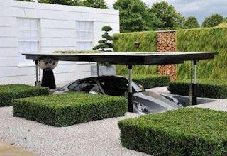 modern luxury car garage hydraulic power design