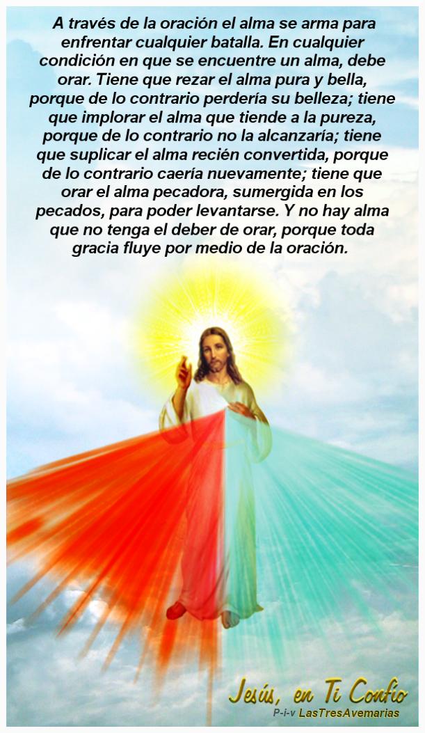 foto de la divina misericordia con mensaje