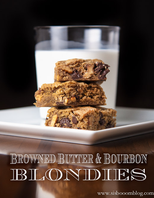 Browned Butter Bourbon Blondies