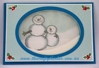 SU, Christmas card, Xmas, Shaker Card, Sponging, Masking,www.thecraftythinker.com.au